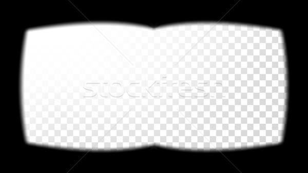 Virtual Reality Glasses Sight View Vector. View From The 3D VR Helmet. Screen Frame Template. Design Stock photo © pikepicture