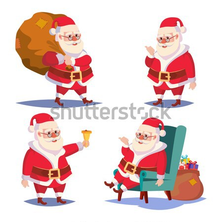 Drunk Woman And Funny Santa Claus Vector. Corporate Christmas Party At Restaurant Or Office. Meet Up Stock photo © pikepicture