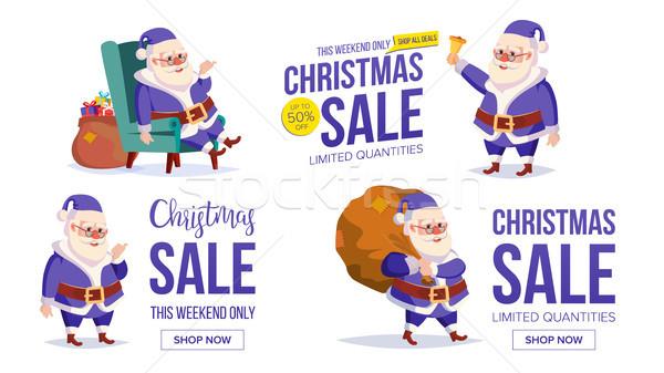 Stok fotoğraf: Büyük · Noel · satış · afiş · şablon · mutlu