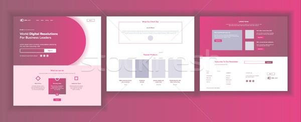 Site modèle vecteur page affaires technologie Photo stock © pikepicture