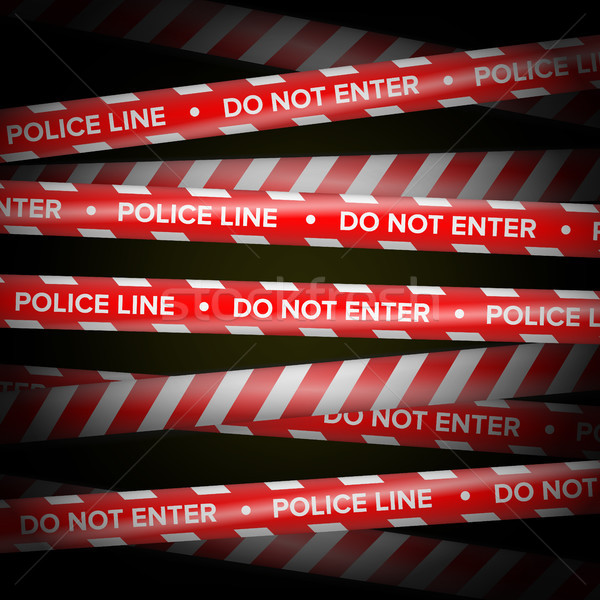 Red And White Vector. Danger Lines. Do Not Cross, Danger, Do Not Enter, Caution. Security Quarantine Stock photo © pikepicture
