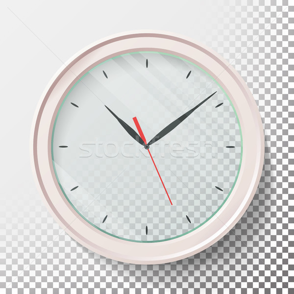 Realistic Wall Clocks Set Vector Illustration. Transparent Face. Black Hands. Ready To Apply. Graphi Stock photo © pikepicture