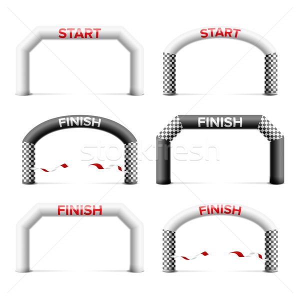 Inflatable Arch Set Isolated Vector. Place For Sponsors Advertising. Archway, Suitable For Sport Eve Stock photo © pikepicture
