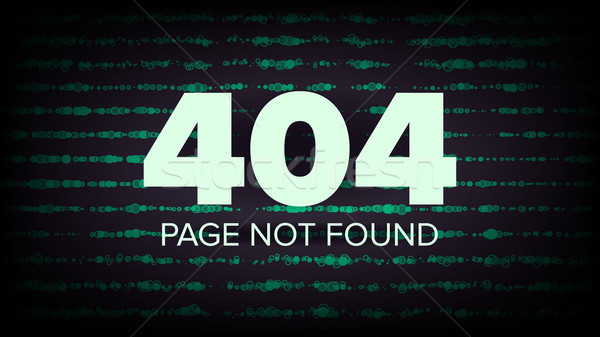 404 Error Vector. Page Not Found. Computer Web Page Failure Concept Illustration. Stock photo © pikepicture