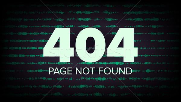 404 hata vektör sayfa değil bilgisayar Stok fotoğraf © pikepicture