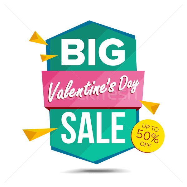 Valentine s Day Sale Banner Vector. Discount Banner. Sale Banner Tag. February 14 Online Sales Conce Stock photo © pikepicture