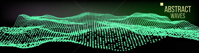 Musica onde abstract suono vettore futuristico Foto d'archivio © pikepicture