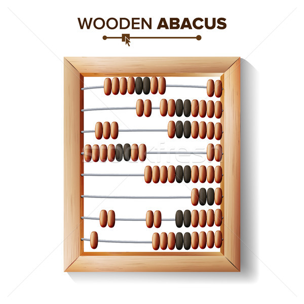 Abacus Close-up. Vector Illustration Of Classic Wooden Abacus Long Before The Calculator. Shop Arith Stock photo © pikepicture