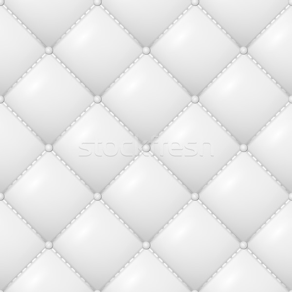 Quilted Pattern Vector. Abstract Soft Textured Background With Squares In White. Close-up View. Stock photo © pikepicture