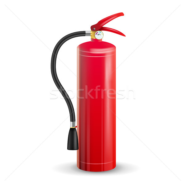 Red Fire Extinguisher Vector. Isolated Illustration Stock photo © pikepicture