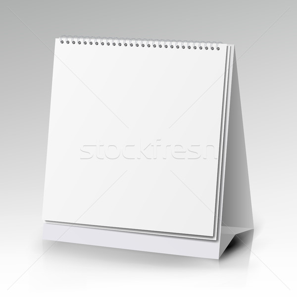 Vector Table Blank Stand Holder For Menu Paper Calendar Card Isolated On White Background Stock photo © pikepicture