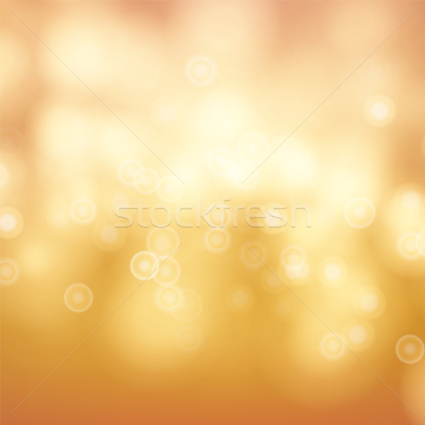 Orange Bokeh Background Vector. Abstract Warm Blur And Bokeh Background. Stock photo © pikepicture