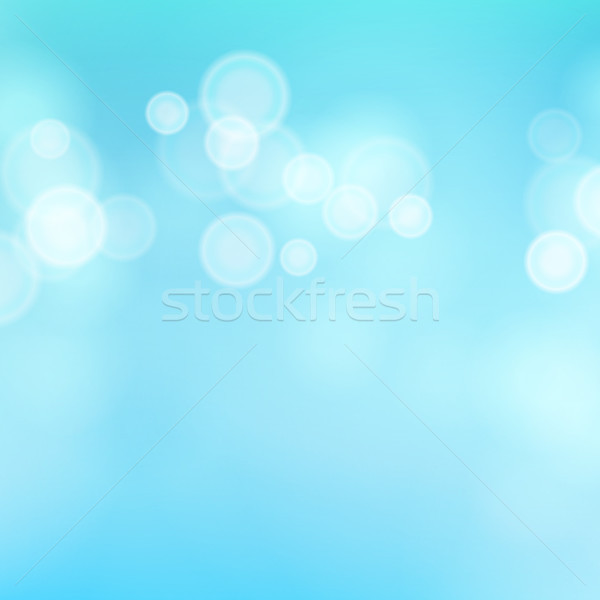 Light Blue Background Vector. Water Summer Bokeh Background With Vintage Filter. Stock photo © pikepicture