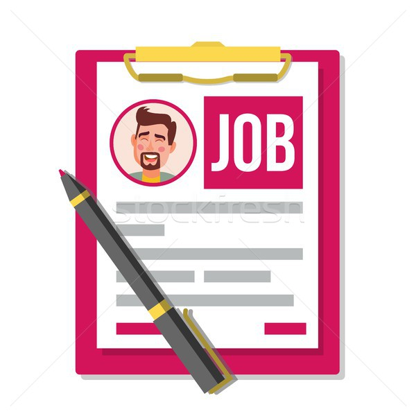 Form Job Application Vector. Business Document. Resume, Career. HR Human Resources Concept. Male Pro Stock photo © pikepicture