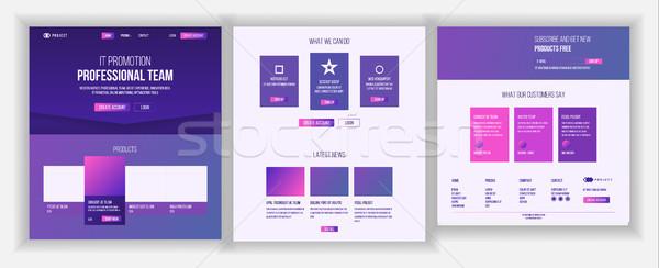 Háló oldal terv vektor weboldal üzlet Stock fotó © pikepicture