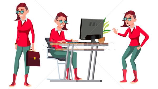 Ofis çalışanı vektör kadın başarılı subay Stok fotoğraf © pikepicture