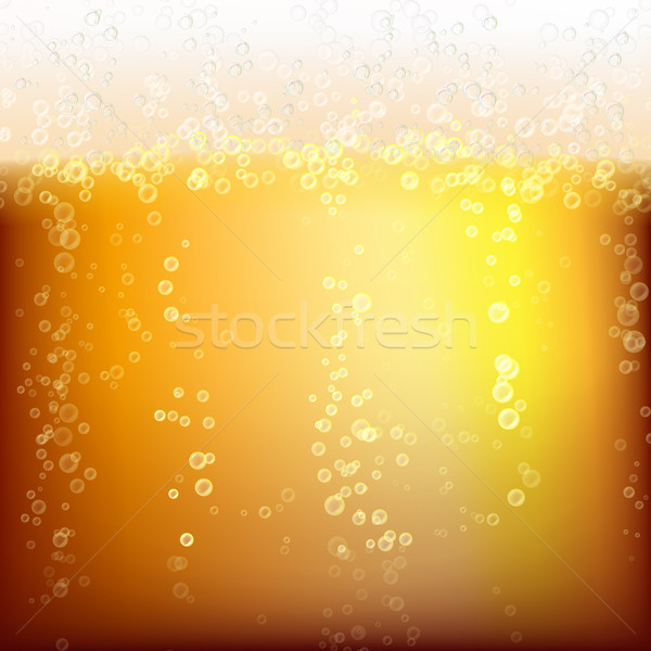 Beer Background Texture With Foam And Vubbles Stock photo © pikepicture