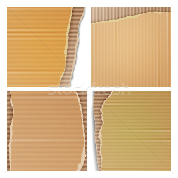 Stock photo: Corrugated Cardboard Vector Set