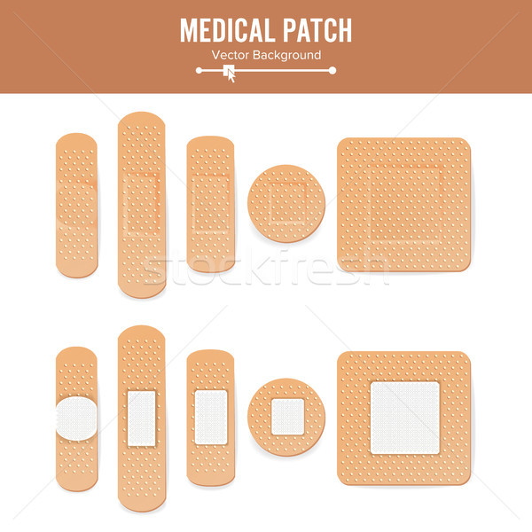Medical Patch Vector. Two Sides. Stock photo © pikepicture
