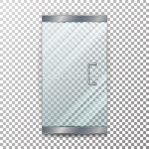 Vidro porta transparente vetor realista armazenar Foto stock © pikepicture
