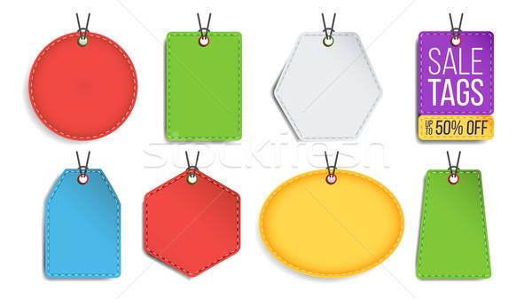 Vásár címkék vektor szín üres vásárlás Stock fotó © pikepicture
