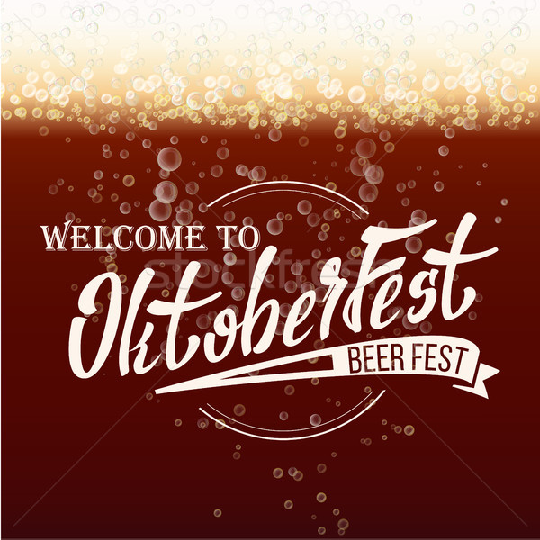 Foto stock: Oktoberfest · cerveza · festival · vector · tipografía