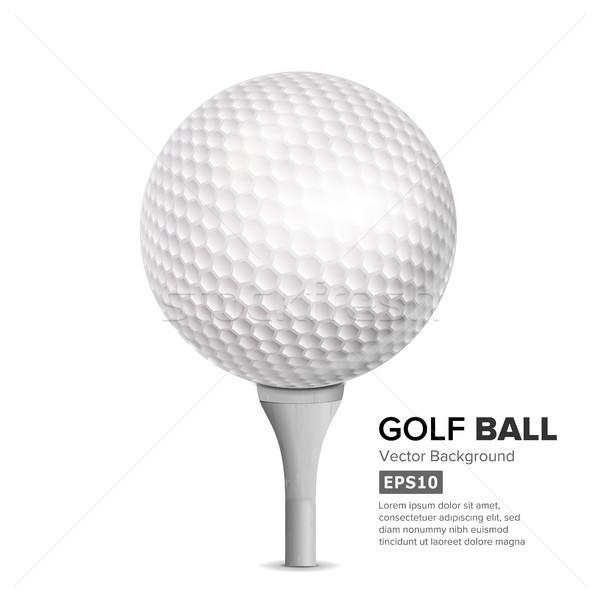 Pallina da golf bianco vettore realistico illustrazione campo Foto d'archivio © pikepicture