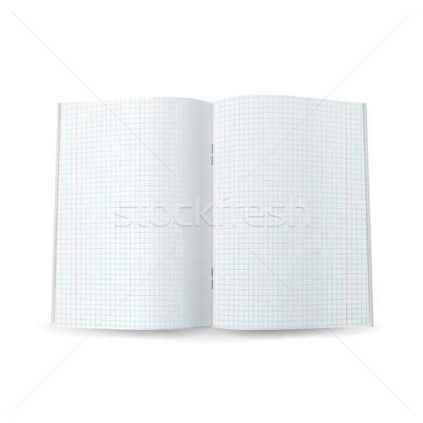 Squared Notebook Paper Vector. Realistic 3d Mock Up Isolated Illustration Stock photo © pikepicture