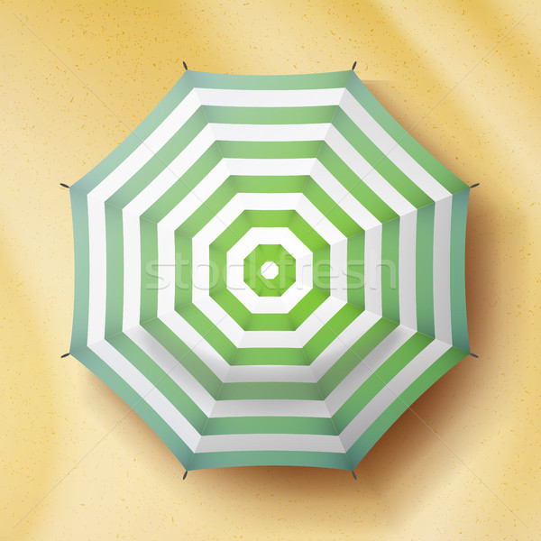 Umbrella Top View Vector. Parasol Top View. Holiday Illustration. Stock photo © pikepicture