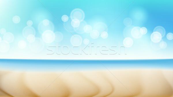 Spiaggia panorama vettore estate scena Blur Foto d'archivio © pikepicture