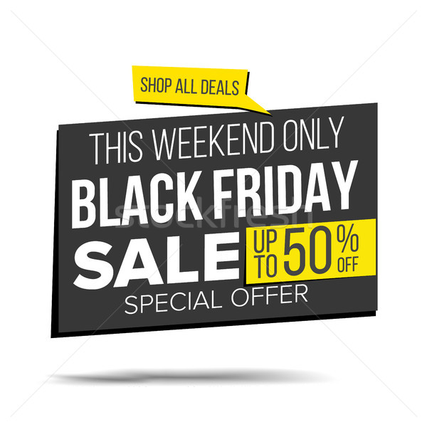 Black friday venta banner vector vacaciones Foto stock © pikepicture