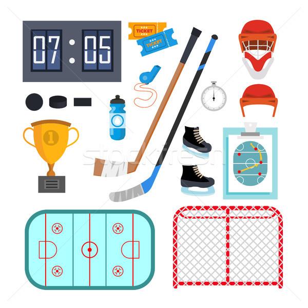 Hokej wektora symbolika odizolowany Zdjęcia stock © pikepicture