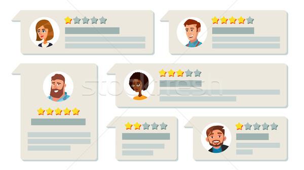 клиентов обратная связь вектора бизнеса качество работу Сток-фото © pikepicture