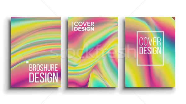 En az dizayn vektör poster kart moda tasarımı Stok fotoğraf © pikepicture
