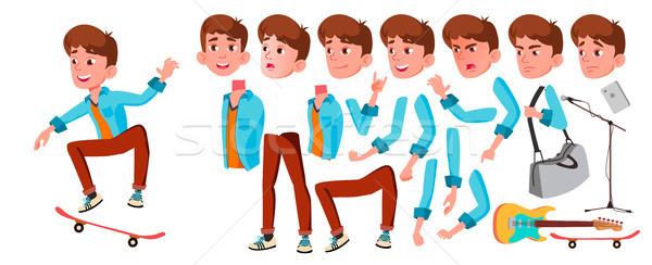 Teen ragazzo vettore animazione creazione set Foto d'archivio © pikepicture