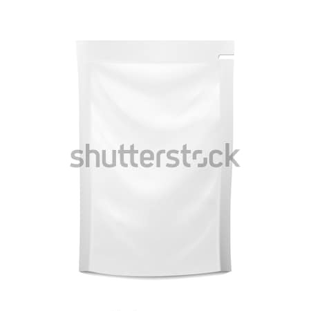 White Blank Plastic Spouted Pouch. Vector Doypack Food Bag Packaging. Template For Puree, Beverage,  Stock photo © pikepicture