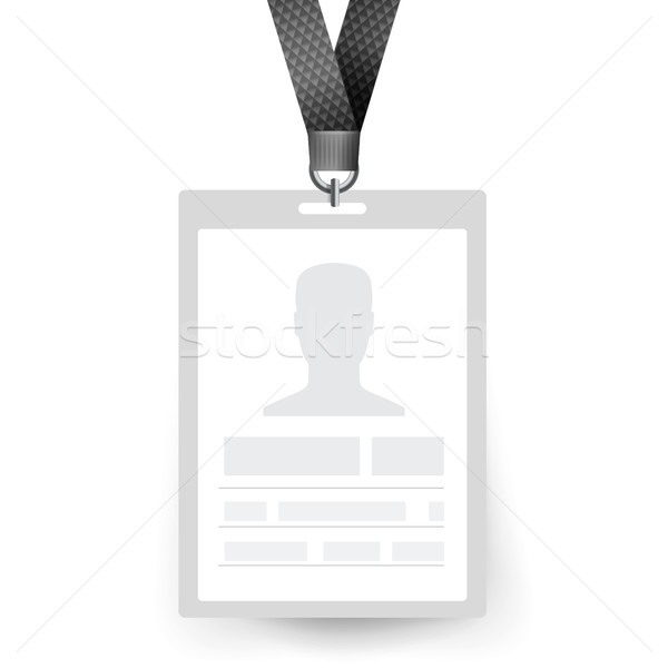 Badge vector werknemer kaart Stockfoto © pikepicture