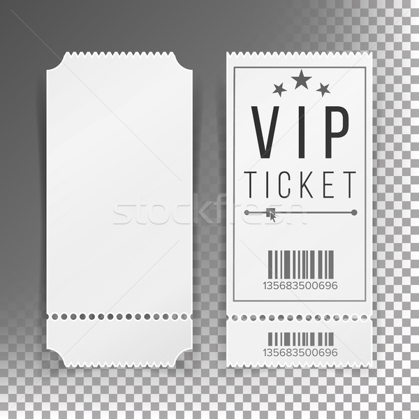 Ticket Template Set Vector. Blank Theater, Cinema, Train, Football Tickets Coupons. Isolated On Tran Stock photo © pikepicture