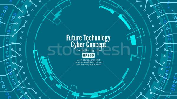 Abstract futuristico vettore sicurezza cyberspazio Foto d'archivio © pikepicture