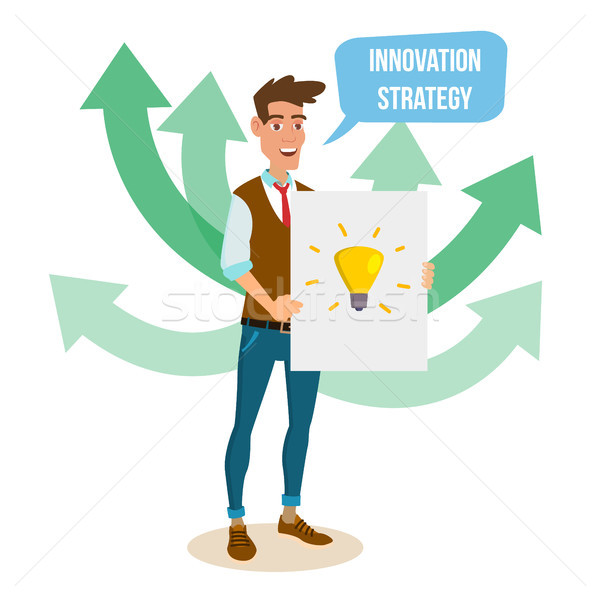 Crowdfunding, Start Up Vector. Crowd Funding Process Concept. Innovative Start Up Monetization Proje Stock photo © pikepicture