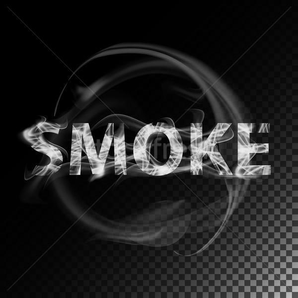 Dymu tekst realistyczny papierosów fale wektora Zdjęcia stock © pikepicture