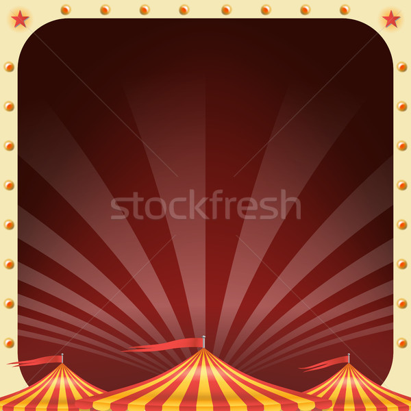 Circus Poster Vector. Circus Tent Background. Amusement Park Party. Holidays Events And Entertainmen Stock photo © pikepicture