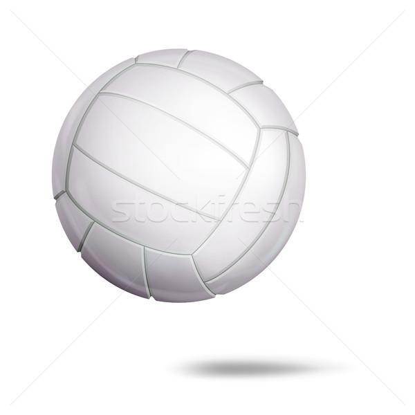 3D siatkówka piłka wektora klasyczny biały Zdjęcia stock © pikepicture