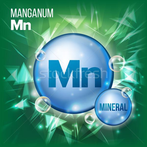 Vektor Mineral blau Pille Symbol Vitamin Stock foto © pikepicture