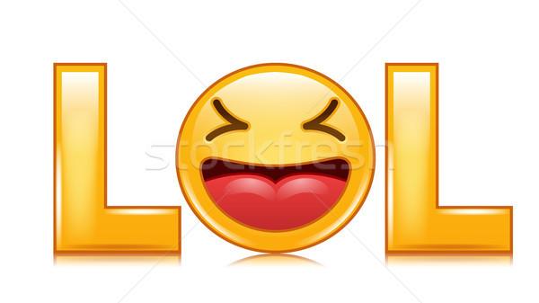 笑 ベクトル 幸せそうな顔 笑う 面白い ストックフォト © pikepicture