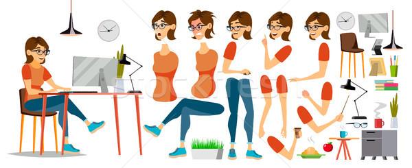 üzletasszony karakter vektor dolgozik női lány Stock fotó © pikepicture