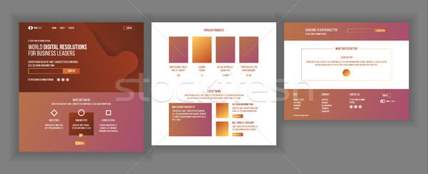 Main Web Page Design Vector. Website Business Reality. Shopping Online Landing Template. Creative Pr Stock photo © pikepicture