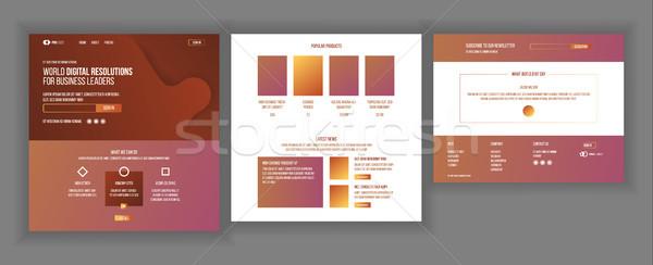 Hoofd- web pagina ontwerp vector website Stockfoto © pikepicture