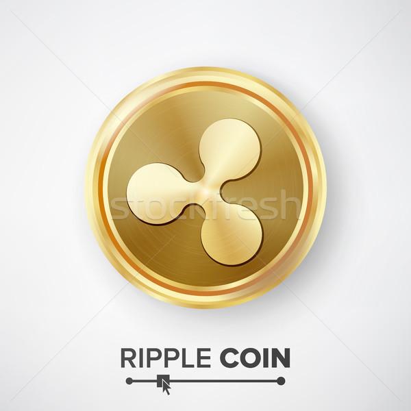 Rimpeling munt gouden munt vector realistisch valuta Stockfoto © pikepicture