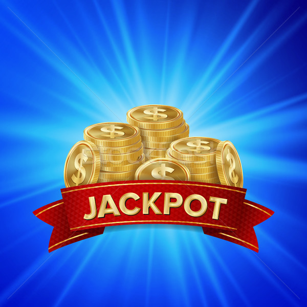 Jackpot Background Vector. Golden Casino Treasure. Winner Concept Illustration. Gold Coins Stock photo © pikepicture
